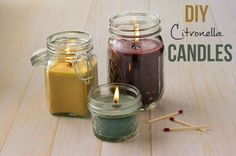 #DIY Citronella Candles for Summer #Craft