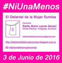 El Delantal de la Mujer Sumisa : #NiUnaMenos - El Delantal de la Mujer Sumisa