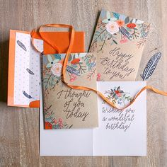 Download and print these pretty floral birthday and greeting cards along with matching gift wrap.