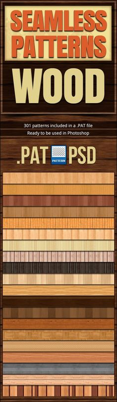 Seamless Patterns Wood