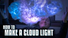 In a new instructional video, Household Hacker demonstrates how to make an amazing looking cloud light using cotton, bottles, Christmas lights, and glue. Outdoor Light Fixtures, Outdoor Lighting, Refurbished Lamps, How To Make Clouds, Cloud Lamp, Cotton Clouds, Cloud Lights, Glass Bottle Crafts, Touch Lamp