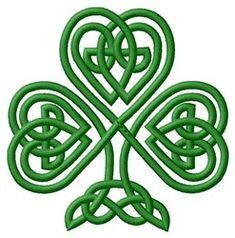 Celtic Knot Shamrock embroidery design - so pretty