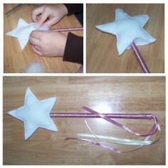 Make Your Own Fairy Wand. Bring your baby and toddler dress up time to the next level with awesome homemade fairy princess and wizard wands.