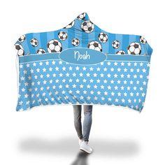 Blue Soccer Stripes and Stars Hooded Blanket – Designing on Wine Hooded Blanket, Little Ones, Blankets, Hoods, Soccer, Stripes, Cozy, Wine, Cartoon