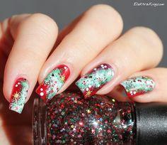 Christmas Galaxy Nails