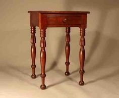 one drawer stand, ca 1820 Drawer Table, Furniture, Side Table, Table, Home Decor, Southern Furniture, Southern Art, Huntboard, Joiner