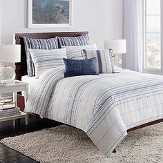 Create a calming oasis in your bedroom with the sensational Cupcakes and Cashmere Indigo Stripe Duvet Cover. Showcasing a soothing indigo stripe in an opulent white and blue shade, this pleasing duvet cover exudes unrivaled style. Free shipping on orders over $29.