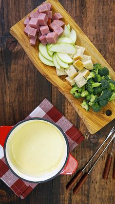 Whether dipping with bread, fruit or veggies, you'll definitely be fond of this warm, cheesy dip.