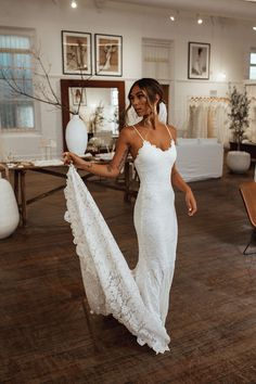 The lofty relaxed and effortless aesthetic of Grace Loves Lace Perth Showroom is… - Clay pots Semi Formal Wedding Attire, Elegant Wedding Gowns, Dream Wedding Dresses, Boho Wedding, Rustic Wedding, Wedding Reception, 1940s Wedding, Popular Wedding Dresses, Modest Wedding