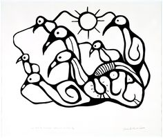 "Norval Morrisseau (Canadian/ Ojibway, - ""We must be child-like"", Simplicity of Spirit Visual Art Lessons, Art Lessons For Kids, Artists For Kids, Visual Arts, Native Art, Native American Art, Native Canadian, Kindergarten Art Lessons, Haida Art"
