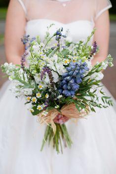 Wildflower Bridal Bouquets, Bride Bouquets, Bridesmaid Bouquet, Wedding Flower Guide, Flower Bouquet Wedding, Blue Flowers For Wedding, Cornflower Wedding, Spring Flower Bouquet, Flower Bouquets