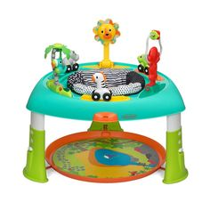 Babies will love playing with the Sit, Spin & Stand Transforming Seat & Activity Table from Infantino. Little ones can spin 360 degrees while exploring 6 interactive toys including light up buttons that activate music and sound effects. Baby Activity Table, Activity Centers, Play Activity, Fisher Price, Baby Bouncer, Baby Bassinet, Cleaning Toys, Play Table, Interactive Toys
