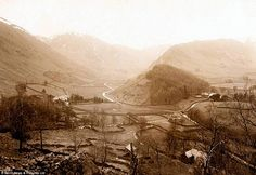 The Lake District's Atlantis In 1935 the village of Mardale Green in Cumbria was flooded to make way for the Haweswater Reservoir. The residents were evicted from their homes, bodies from the cemetery. Lost Village, Sunken City, Farm Gate, Make Way, Water Tower, Cumbria, Lake District, Old Photos, Places To Visit