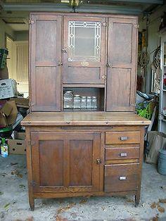 1920's 1930's Oak Sellers Kitchen Cabinet | eBay