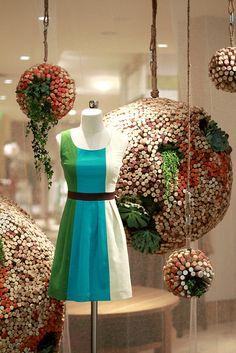 Cork globe planters are a fitting nod to Earth Day. - www.casasugar.com