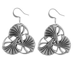 Jewelry | Earrings | Art Nouveau Ginkgo | Oberon Design