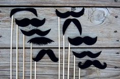 CUSTOM ORDER for courtneyellington Black Mustaches on a by loriii
