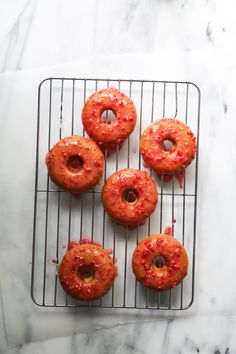 Strawberry Buttermilk Doughnuts