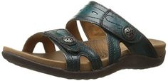 Rockport Cobb Hill  Women's Renee-CH Flat Sandal,  Teal, 9 M US ** You can get more details by clicking on the image.