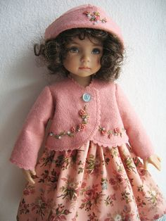 Embroidered Felt Coat For Little Darling Karin | by ulladesigns