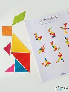 Voici un jeu de Tangram à imprimer gratuitement et utilisable dès la maternelle ms (moyenne section) / gs (grande section). Un kit parfait pour débuter dans l'art du Tangram, ce puzzle géométrique très célèbre à travers le monde. Il comporte le jeu de tangram de base de 7 pièces, un premier puzzle pour débuter et 9 modèles à re-créer !