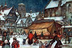 Brabantsche Gebakkraam - Anton Pieck, Dutch painter, artist and graphic artist.