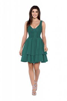 efddaf35bd Arkany Mody. Sukienka w eleganckim stylu - projekt na wielkie wyjście. Góra  dopasowana do