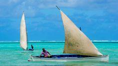 Sur les eaux turquoise qui encerclent Rodrigues, poussés par les vents réguliers, les pêcheurs naviguent le plus souvent à la voile.