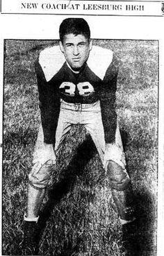 1938 Leesburg Yellow Jackets Varsity Football, Head Coach Dick Braham, Leesburg High School, Leesburg, Florida