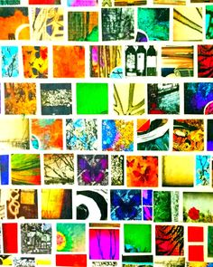 8 x 10 Paper Mosaic Print 4 Wall Picture Artwork Art Abstract Squares Mosaic Colorful Collage Photo Photograph Red Yellow Green Blue Black by Concepts2Canvas on Etsy