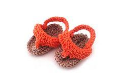 Ravelry: KNIT Orange Flip Flops pattern by Lunatic Knitter $4.50