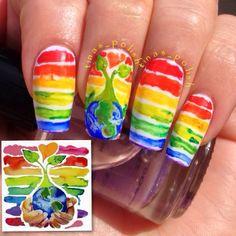 tinas_polish EARTH DAY #nail #nails #nailart
