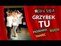 WESOŁA SCENA - Grzybek tu - zabawa muzyczno - ruchowa dla dzieci - YouTube Zumba, Broadway Shows, Neon Signs, Youtube, Youtubers, Youtube Movies