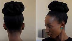 Un chignon travaillé. | 25 idées de coiffures pour les cheveux crépus et frisés