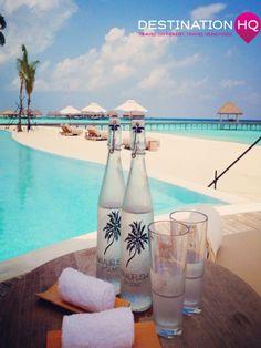 Pool side life at Maalifushi by Como; Maldives