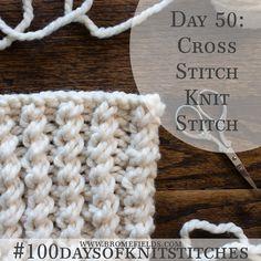 Cross Stitch Rib Knit Stitch +VIDEO