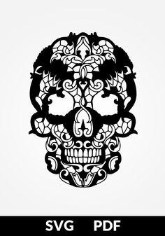 SVG / PDF cut file Paper Cutting Template Calavera skull