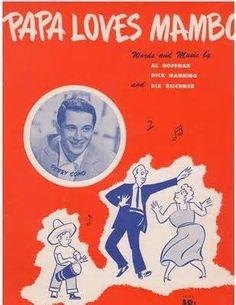 Papa Loves Mambo Perry Como sheet music cover