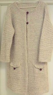 Hand knit, jacket and shawl, pocket. Håndstrikket. Design: Annelise Bjerkely On Facebook: Strikkesida til Annelise