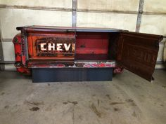 1955 chevy buffet with pull out drawer and tail light. All steel construction. relicsawry.com or relicsawry on Facebook for more info.