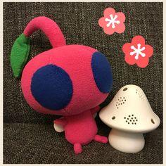 Handmade Pink flying pikmin plush