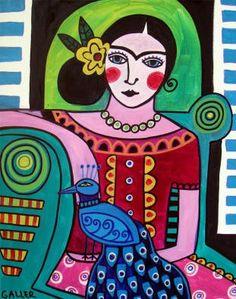 Frida Kahlo Print Poster Art of Painting by HeatherGallerArt, $25.00