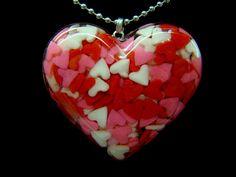 Heart Full Of Candy Hearts - Pink Mix. $20.00, via Etsy.