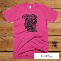 Prince Purple Rain T-Shirt - Artist Formerly Known as Prince men's tee - Soul and R&B music Legend S-XL - Fuchsia Purple T-shirt