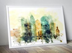 Tampa Watercolor Poster Print for Living Room #walldecorart #wallartsale #wallpictures #walldecorpaintings #decorationwall #homewalldecor #artposterprints #watercolorposter #officeartwork #bedroomwalldecor #livingroomart #modernwallart #tampa