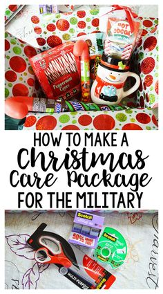 How To Make a Christmas Care Package for the Military or Family Far Away – Sarah White - simplify. Soldier Care Packages, Deployment Care Packages, Deployment Gifts, Military Deployment, Military Gifts, All Things Christmas, Christmas Crafts, Xmas, Christmas Ideas