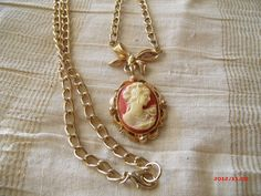 Vintage Cameo Necklace by bumbalilliesbling on Etsy, $12.00