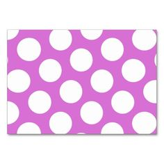 Big Orchid and White Polka Dots Table Cards