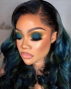 Makeup For Black Skin, Black Girl Makeup, Girls Makeup, Eyebrow Makeup Tips, Beauty Makeup, Eye Makeup, Hair Makeup, Cute Hair Colors, Smokey Eyeshadow