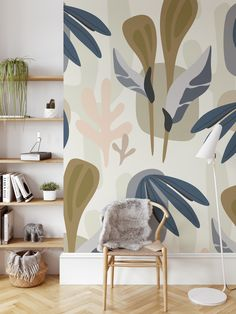 Tropical vibes with this Abstract Jungle removable wallpaper. This design can be bigger or smaller. Easy do-it-yourself wall fabric. Choose between Peel & Stick Wallpaper and Pasted Wallpaper (Free adhesive). Free shipping above $250 in Australia 🇦🇺 * Any questions about this design? Send us an email to info@edgewallart.com.au and we will get back to you asap. Diy Wall Art, Diy Wall Decor, Room Decor, Wall Stickers, Wall Decals, Wall Fabric, Removable Wall Murals, Tropical Vibes, Peel And Stick Wallpaper
